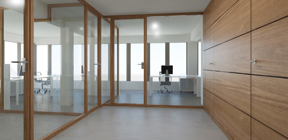 Wood Glass Partition Wall System Nodoo Officefurnitureitaly