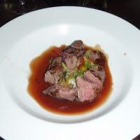 Kangaroo Steaks With Red Wine Sauce Recipe