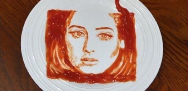 Até ketchup pode ser uma opção de tinta nas mãos de Rob Ferrel