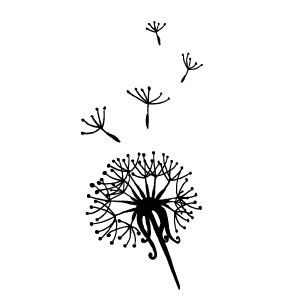 Dandelion Tattoo Temporary Tattoo