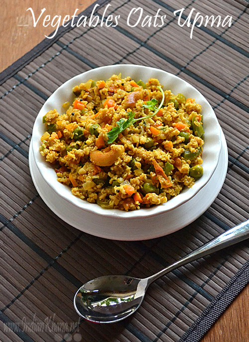 Vegetables Oats Upma Oats Recipes