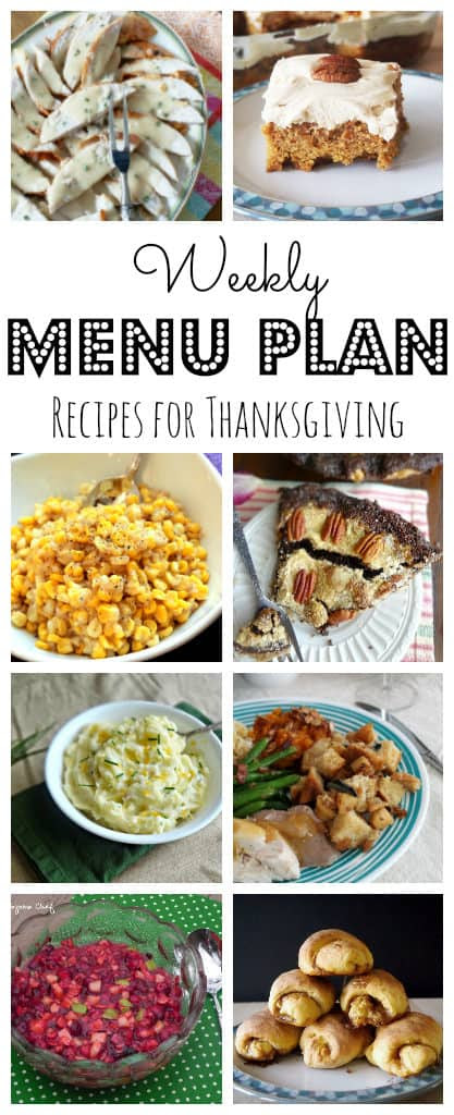 Weekly Meal Plan #38 Thanksgiving-pinterest