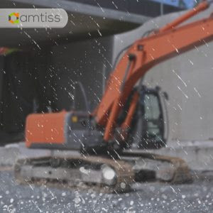 excavator hujan