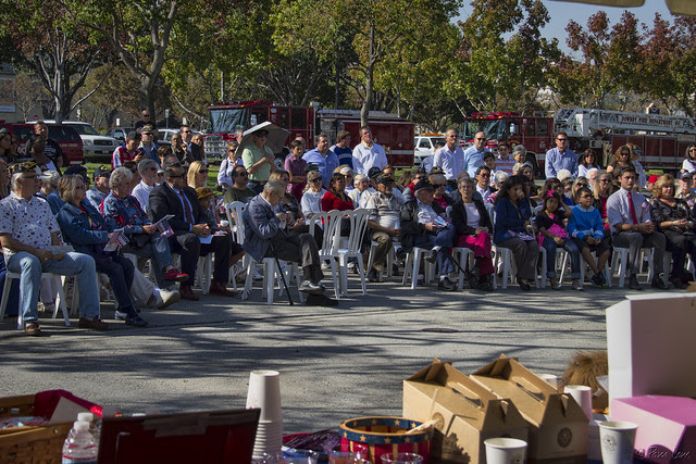 Downey Veteran's Day audience