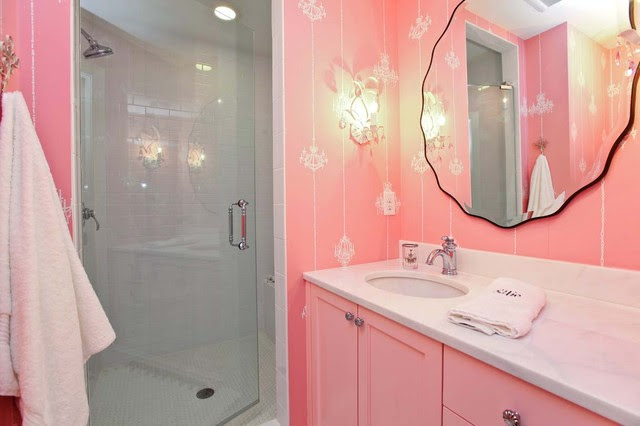 Light Pink Bath - traditional - bathroom - minneapolis - by ...