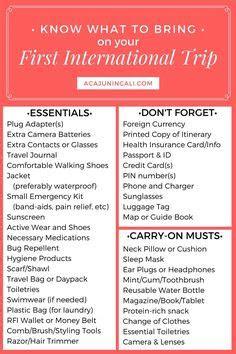 ideas  europe packing lists  pinterest