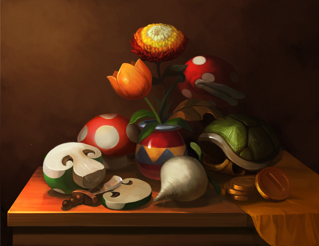 Video Game Still Lifes Created by Elizabeth Sherry