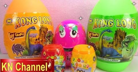 Bóc Trứng đồ chơi trẻ em bất ngờ tập 5 Bé Na Dinosaur Magic Eggs Surprise Childrens toys