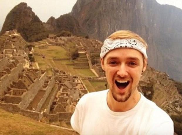 Além do Rio de Janeiro, ele acabou visitando Machu Picchu, no Peru (Foto: Reprodução/ Instagram/jamiea1112)