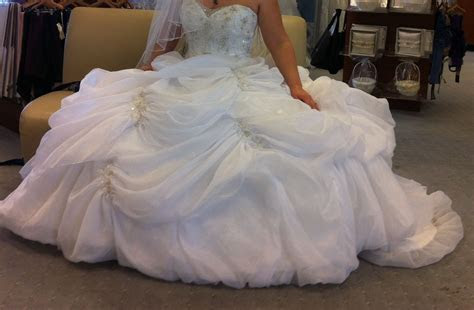 2013 Alfred Angelo Disney Belle wedding dress.   Beauty