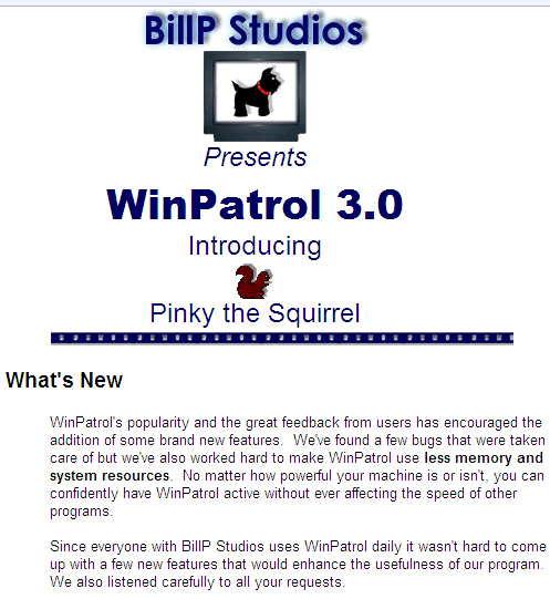 WinPatrol 3.0 in 2001
