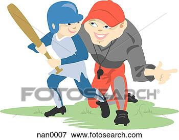 Stock Illustration - baseball coach.  fotosearch - search  clipart, illustration  posters, drawings  and vector eps  graphics images