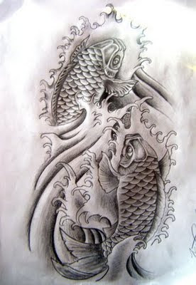 Koi Fish Tattoo Designs Black And White Sample Tattoomagz