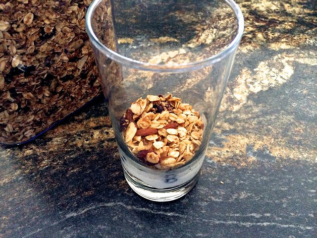 Layer of Granola in Glass