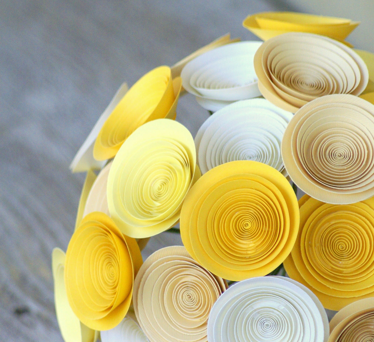 Build Your Own Bridal Bouquet -- Handmade Paper Flower Bouquet -- Modern Bridal Bouquet