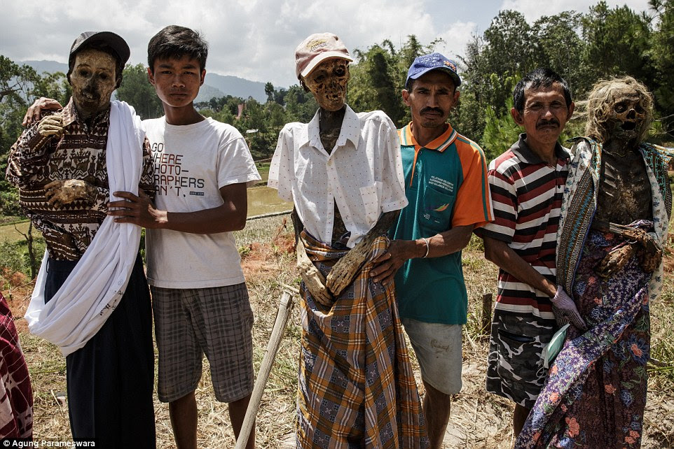 Tradition: Every three years, the Toraja people on the island of Sulawesi, Indonesia, dig up their dead relatives for the Ma'nene festival