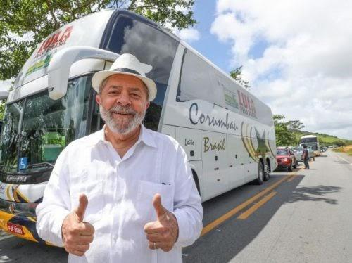 Caravana: Lula quer ir a território amigo e inimigo