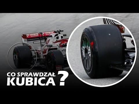 Co sprawdzał Kubica na testach opon Pirelli?