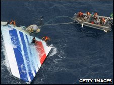 Debris from an Air France crash