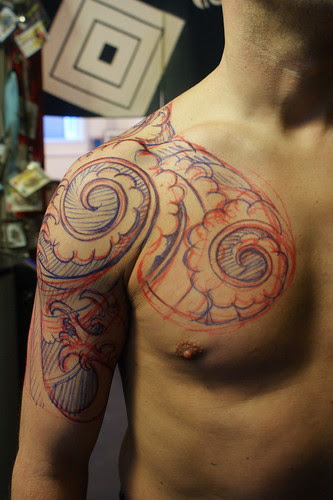 """Learn How To Tattoo """"Color Background Tattooing"""" Labels: tattoo vector"""
