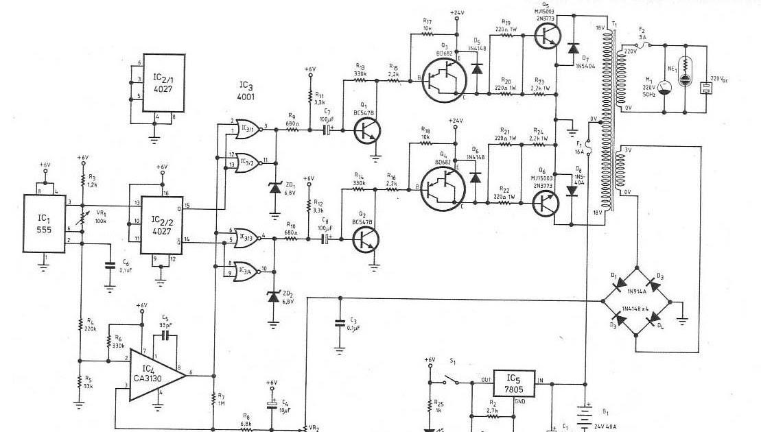 Scematic Diagram  2n3773 Inverter Circuit