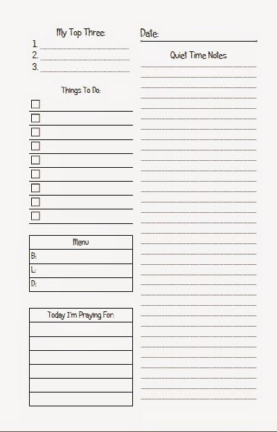 Christian-Themed Daily Page ~ Planner Fun - It