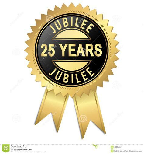 Jubilee   25 years stock vector. Illustration of gift