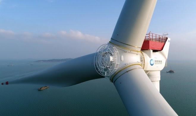 В Китае начали строить самый большой и мощный ветрогенератор в мире