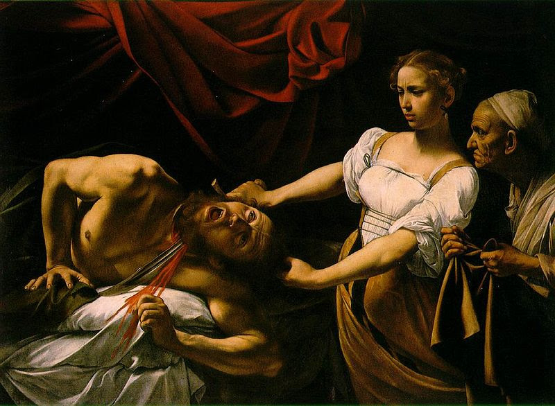 Judith Beheading Holofernes by Caravaggio (PD-art)