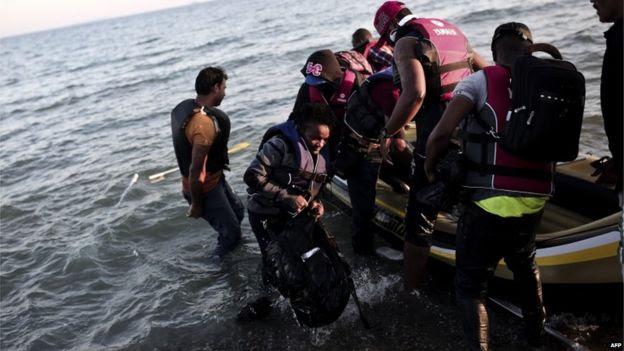 Migrants arrive in Kos (19 August)