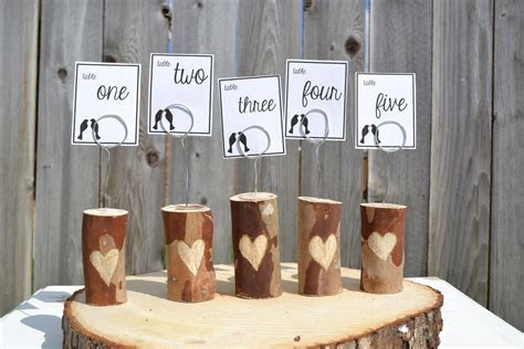 Unique Wedding Reception Table Numbers Handmade Weddings 7