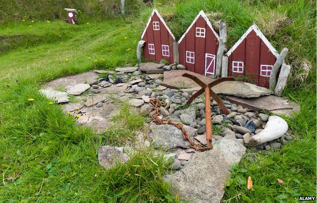 Elf houses, Papey Island, East Iceland