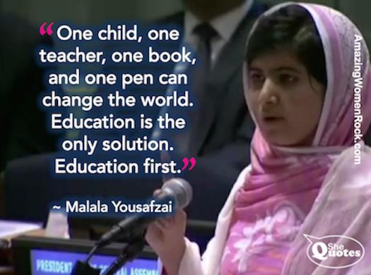 Shequotes Shequotes Malala On Education Quotes Education