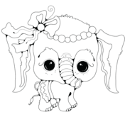 Draw Samples: Coloring Page Elephant Easy Drawing