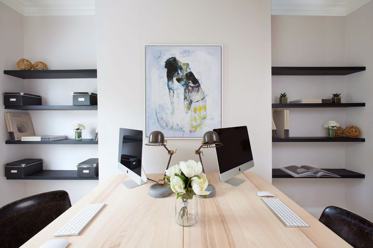 255 Inspirational Home Office Workspaces That Feature 25 Person Desks