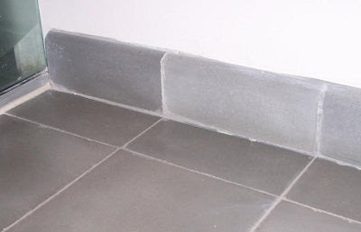 Cement Tile Base Trim Installation Showing Bullnose Edge