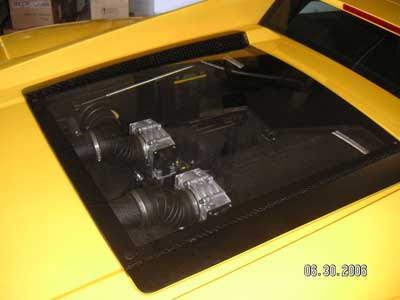 Replacing A Shattered Gallardo Engine Glass Cover