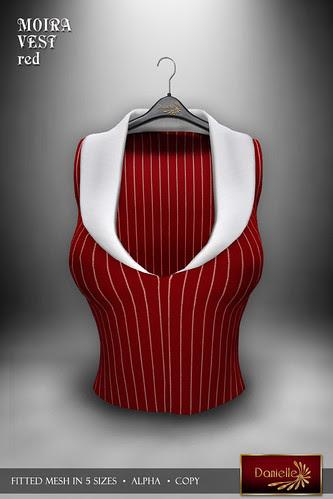 DANIELLE Moira Vest Red