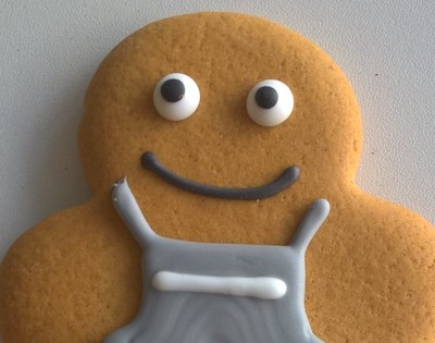 The gingerbread person needs a name. Credit: Co-Op