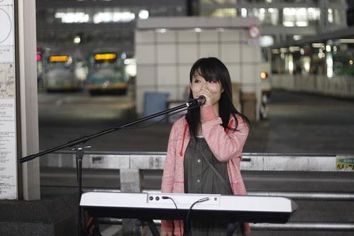 Yui Ibuki at the West Exit of Shinjuku Station
