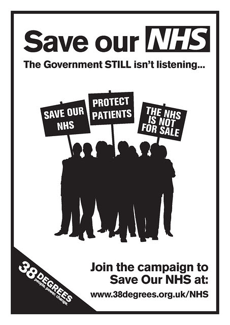 SAVE OUR NHS crowd poster