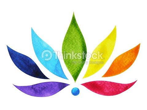 7 Colores De Símbolo De Signo De Chakra Flor De Loto Colorida