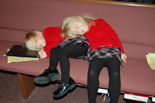 4:30 p.m. on Christmas Eve, Sleeping at the church program...PRICELESS!