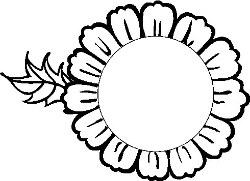 Sunflower Drawing Black And White Free Download Best Sunflower