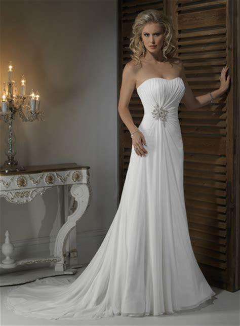 Gorgeous Strapless A line Chapel Train bridal gowns,make