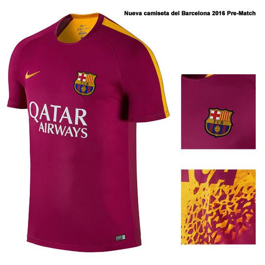 Nueva camiseta del Barcelona 2016 Pre-Match Top por NikeInspirado por el descubrimiento pionero de la nueva Nike Hypervenom Phantom II, el de Camiseta Barcelona 2016 Pre-Match ofrece un gráfico trasera sorprendente diseñado después de estilo reconocible de la bota de fútbol.Color-sabio, el equipación Pre-Match de Barcelona 2016 es de color mayormente baya, con acentos en la Universidad de Oro.Como común con Nike Pre-Match camisetas de futbol, el nombre del equipo del Barça está escrito en la parte posterior superior en negrita Futura, incorporado en el Hypervenom añicos impresión.Logotipo del patrocinador de Beko es visible en la parte posterior inferior de la nueva equipación Nike del Barcelona 2016 Pre-Match.