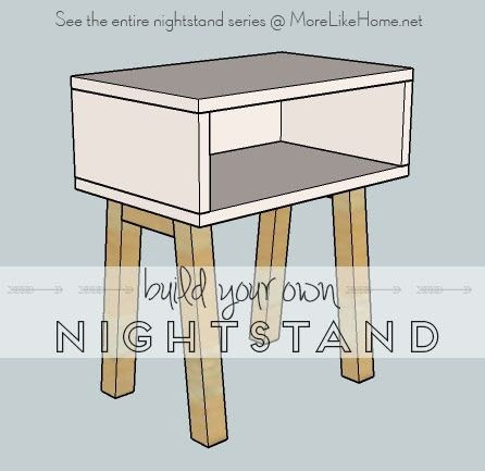 more like home nightstands day 1 simple modern. Black Bedroom Furniture Sets. Home Design Ideas
