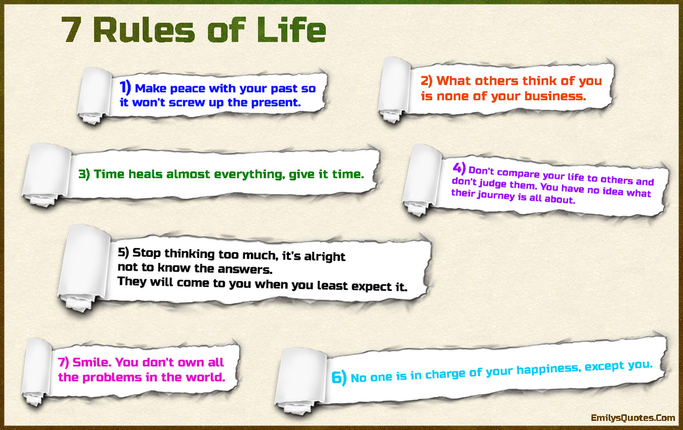 7 Rules Of Life Popular Inspirational Quotes At Emilysquotes