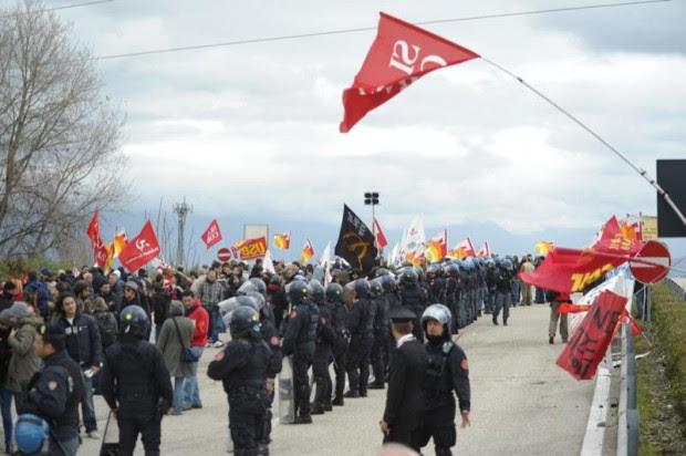 Le proteste di Pomigliano