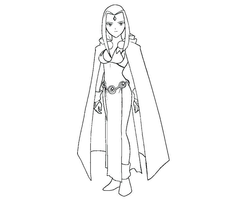 Raven Teen Titans Coloring Pages At Getcoloringscom Free